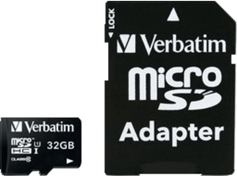 VERBATIM Premium U1 Micro SDHC 32GB plus adapter - (44083) laptop  tablet  computing  tablet   ipad κάρτες μνήμης hobby   φωτογραφία φωτογρ