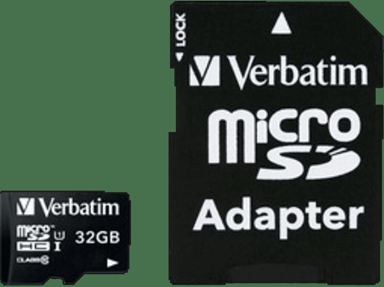 VERBATIM Premium U1 Micro SDHC 32GB plus adapter - (44083) laptop  tablet  computing  tablet   ipad κάρτες μνήμης hobby   φωτογραφία φωτογρ