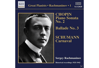 Sergei Vasilievich Rachmaninoff - Solo Piano Recordings Vol.1 - (CD)