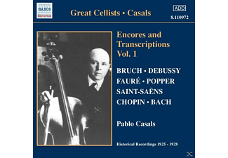 Casals Pablo - Encores & Transcription Vol.1 - (CD)