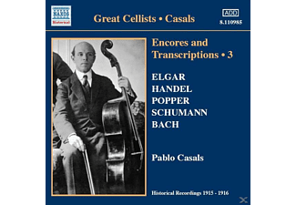 Casals Pablo - Encores+Transcriptions Vol.3 - (CD)
