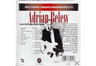 Adrian Belew - Live At The Paradise Theater Boston - (CD)