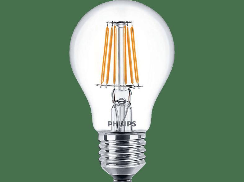 PHILIPS LED F7.5E27CL/WW 60W E27 WW A60 CL ND/4 FILAMENT  αξεσουάρ φωτισμός led
