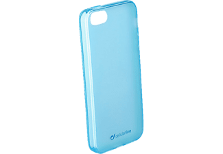 CELLULAR LINE Foggy, Apple, Backcover, iPhone 5, iPhone 5s, iPhone SE, Thermoplastisches Polyurethan, Blau