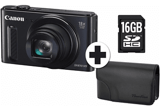 Powershot SX610 HS + travel kit Zwart