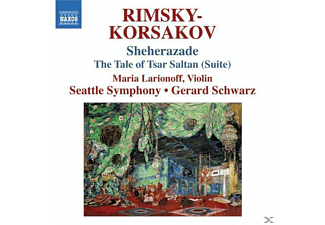 The Seattle Symphony, Gerard Schwarz, Maria Larionoff, Larionoff/Schwarz/Seattle SO - Sheherazade/Zar Saltan Suite - (CD)