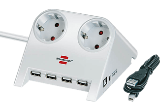 BRENNENSTUHL Desktop-Power-Plus USB-hub wit