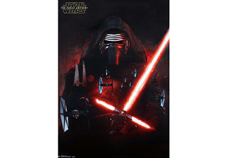 Star Wars Episode 7 Poster Kylo Ren & T-Fighter