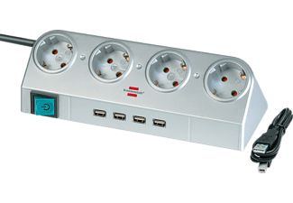 BRENNENSTUHL Desktop-Power 4-V USB-hub grijs