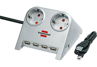 BRENNENSTUHL Desktop-Power 2-V USB-hub grijs