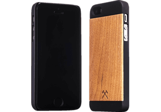 WOODCESSORIES EcoCase Cirill, Apple, Backcover, iPhone 5/5s, Echtholz (Bambus), Braun/Schwarz