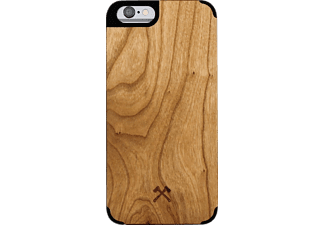 WOODCESSORIES EcoCase Statham, Apple, Backcover, iPhone 6/iPhone 6s, Kirschholz/Echtholz, Braun/Schwarz