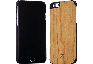 WOODCESSORIES EcoCase Statham, Apple, Backcover, iPhone 6 Plus, iPhone 6s Plus, Kirsch/Echtholz, Braun/Schwarz