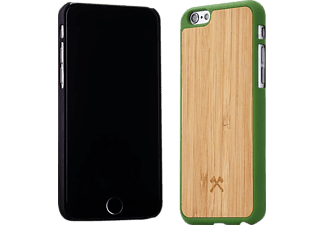 WOODCESSORIES EcoCase Ralph, Apple, Backcover, iPhone 6, iPhone 6s, Bambus/Echtholz, Braun/Grün