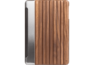 WOODCESSORIES EcoGuard, Bookcover, iPad Air 2, 9.7 Zoll, Braun/Schwarz/Silber/Transparent
