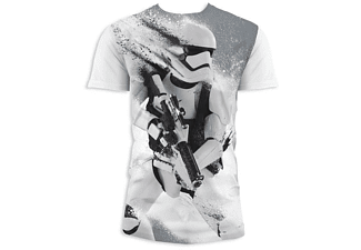 Star Wars Episode 7 T-Shirt Stormtrooper Snow Weiß L