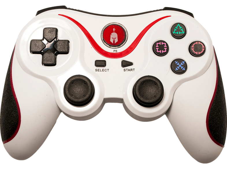 ENARXIS. Spartan Gear Wireless Bluetooth Sixaxis Controller White gaming απογείωσε την gaming εμπειρία αξεσουάρ ps3 gaming   offline αξεσουάρ gami