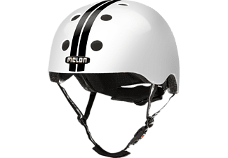 MELON Urban Active STRAIGHT BLACK WHITE GLOSSY XL-XXL Fahrradhelm