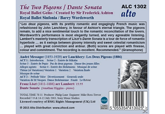 B./Royal Ballet Sinfonia Wordsworth - The Two Pigeons/Dante Sonata - (CD)