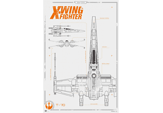 Star Wars: Episode 7 Poster X-Wing Fighter Blueprint