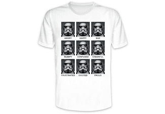 Star Wars T-Shirt Many Faces Of Stormtrooper Weiß XL