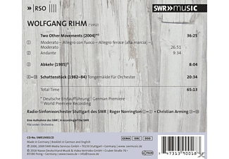 Radio-Sinfonieorch. Stuttgart des SWR - Norrington - Two Other Movements - (CD)