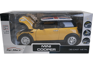 DIE CAST KZL TOP201 Mini Cooper Metal Çek Bırak Araba Sarı