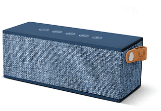 FRESH N REBEL Rockbox Brick Fabriq Edition, Bluetooth Lautsprecher, Ausgangsleistung 2x 6 Watt, Blau