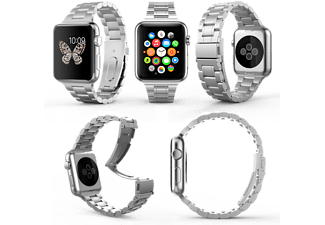 HYPERLINK Apple Watch Länkad Stål Armband 42MM - Silver