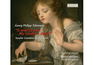 Mields, Demeyere, Bach Concentus, Mields/Demeyere/Bach Concentus - Weltliche Kantaten TWV 20:37 & 20:49/Orch.-Suiten - (CD)