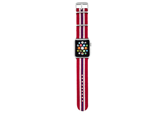 TRUST Nylon bandje voor Apple Watch 42mm rood gestreept