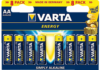 VARTA ALKALINE ENERGY VALUE PACK AA 8BL