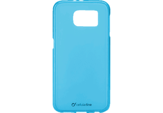 CELLULAR LINE 37227 Foggy, Samsung, Backcover, Galaxy S6, Thermoplastisches Polyurethan, Blau