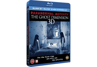 Paranormal activity Ghost dimension: Unrated cut Skräck 3D BD & 2D BD, Blu-Ray