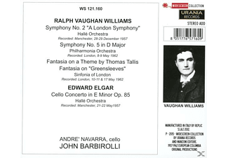 Barbirolli/Halle Orch./Philh.Orch/Navarra/Sinf. - Barbirolli Dirigiert Vaughan Williams [CD]
