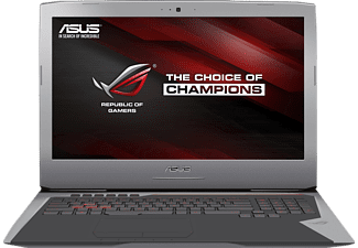 ASUS G752VY-GC088T, Gaming-Notebook mit 17.3 Zoll Display, Core i7 Prozessor, 16 GB RAM, 1 TB HDD, 512 GB SSD, GeForce GTX 980M, Grau