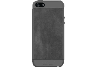 BLACK ROCK Suede, Apple, Backcover, iPhone 5, iPhone 5s, iPhone SE, Kunststoff/Echtleder/Polycarbonat (PC)/Thermoplastisches Polyurethan (TPU), Grau