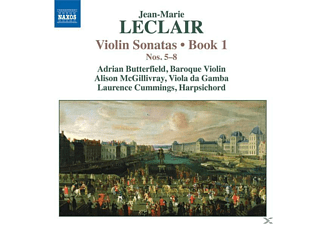 Leclair, Butterfield/McGillivray/Cummings - Violinsonaten Buch 1,Nr.5-8 - (CD)