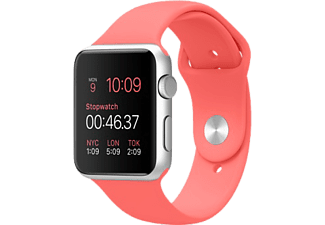APPLE Watch Sport 42 mm - Silver Aluminium/Pink