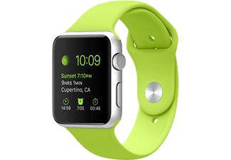 APPLE Watch Sport 38 mm - Silver Aluminium/Green