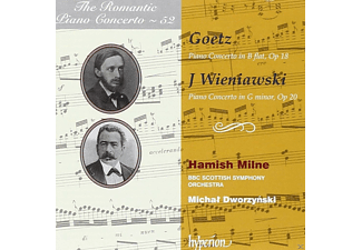 Hamish Milne, Bbc Scottish Symphony Orchestra - The Romantic Piano Concerto, Vol. 52: Goetz & Wieniawski - (CD)
