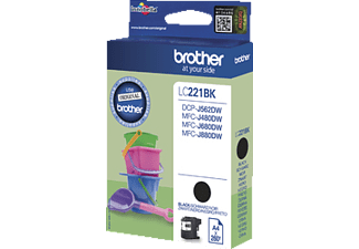 BROTHER Original Tintenpatrone Schwarz (LC-221BK)
