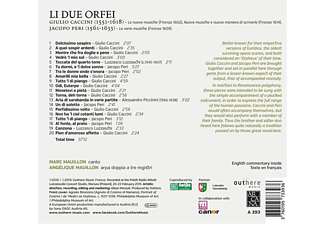 Marc Mauillon, Angelique Mauillon - Li Due Orfei - (CD)