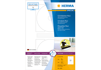 HERMA 4460 CD-Etiketten  Ø 116 mm A4 200 St.