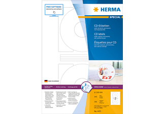 HERMA 4471 CD-Etiketten  Ø 116 mm A4 200 St.