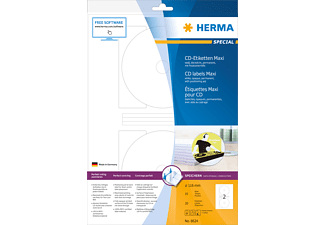 HERMA 8624 CD-Etiketten  Ø 116 mm A4 20 St.