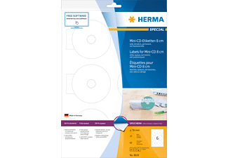 HERMA 8619 CD-Etiketten  78 mm A4 60 St.