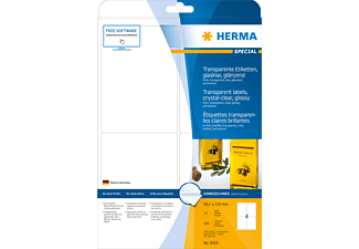 HERMA 8019 Etiketten transparent  99.1x139 mm A4 100 St.