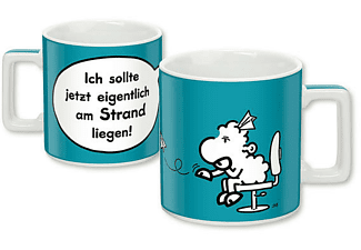 Sheepworld Wortheld Tasse Strand