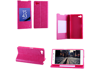 VOLTE-TEL SONY XPERIA Z5 COMPACT E5803 LEATHER-TPU VIEW BOOK STAND PI